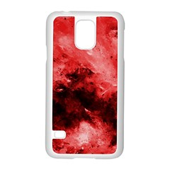 Red Abstract Samsung Galaxy S5 Case (White)