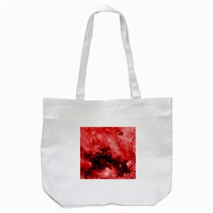 Red Abstract Tote Bag (White)