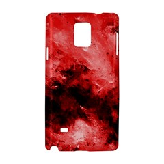 Red Abstract Samsung Galaxy Note 4 Hardshell Case