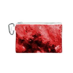 Red Abstract Canvas Cosmetic Bag (S)