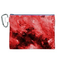 Red Abstract Canvas Cosmetic Bag (XL)