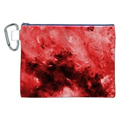 Red Abstract Canvas Cosmetic Bag (XXL)