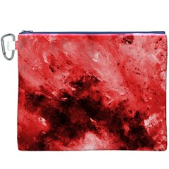 Red Abstract Canvas Cosmetic Bag (XXXL)