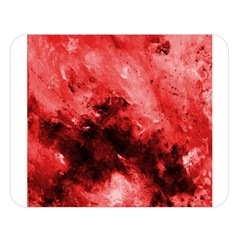 Red Abstract Double Sided Flano Blanket (Large)