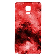 Red Abstract Galaxy Note 4 Back Case