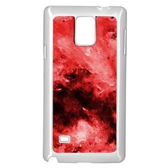 Red Abstract Samsung Galaxy Note 4 Case (White)