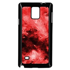 Red Abstract Samsung Galaxy Note 4 Case (Black)