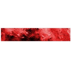 Red Abstract Flano Scarf (Large)