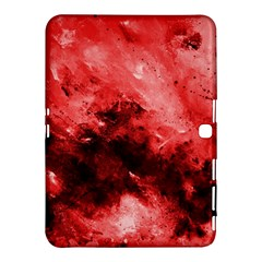 Red Abstract Samsung Galaxy Tab 4 (10.1 ) Hardshell Case