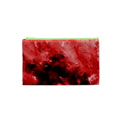 Red Abstract Cosmetic Bag (XS)