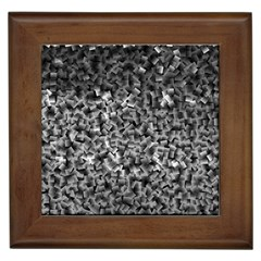 Gray Cubes Framed Tiles