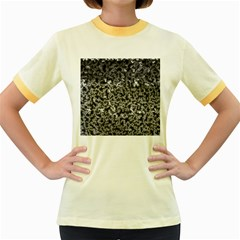Gray Cubes Women s Fitted Ringer T-Shirts
