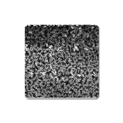 Gray Cubes Square Magnet