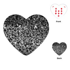 Gray Cubes Playing Cards (heart)