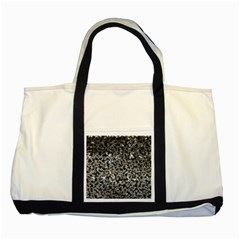 Gray Cubes Two Tone Tote Bag