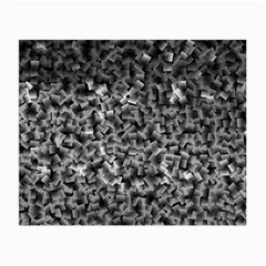 Gray Cubes Small Glasses Cloth (2 Side)