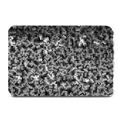 Gray Cubes Plate Mats