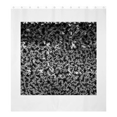 Gray Cubes Shower Curtain 66  x 72  (Large)