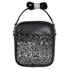 Gray Cubes Girls Sling Bags