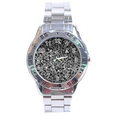 Gray Cubes Stainless Steel Men s Watch