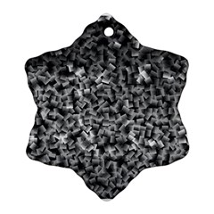 Gray Cubes Snowflake Ornament (2 Side)