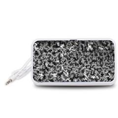 Gray Cubes Portable Speaker (White)