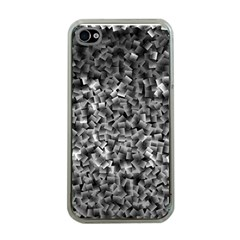 Gray Cubes Apple Iphone 4 Case (clear)