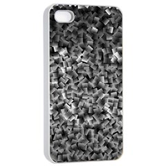 Gray Cubes Apple iPhone 4/4s Seamless Case (White)