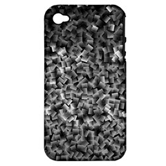 Gray Cubes Apple Iphone 4/4s Hardshell Case (pc+silicone)