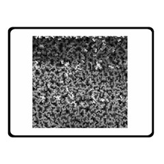 Gray Cubes Double Sided Fleece Blanket (Small)