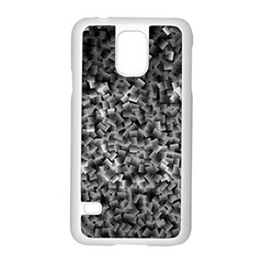 Gray Cubes Samsung Galaxy S5 Case (White)