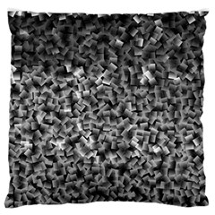 Gray Cubes Large Flano Cushion Cases (One Side)