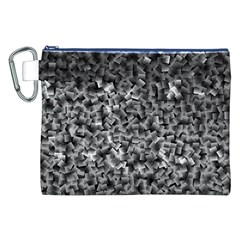 Gray Cubes Canvas Cosmetic Bag (xxl)