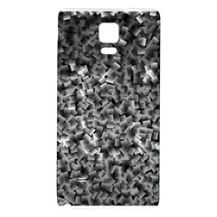 Gray Cubes Galaxy Note 4 Back Case