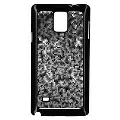 Gray Cubes Samsung Galaxy Note 4 Case (Black)