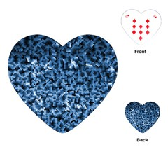 Blue Cubes Playing Cards (heart)