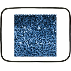 Blue Cubes Fleece Blanket (Mini)