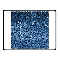 Blue Cubes Fleece Blanket (Small)