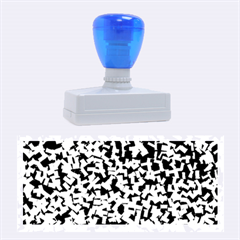 Blue Cubes Rubber Stamps (Large)
