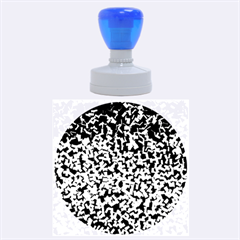 Blue Cubes Rubber Round Stamps (Large)