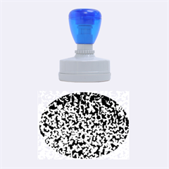 Blue Cubes Rubber Oval Stamps