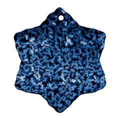 Blue Cubes Ornament (Snowflake)