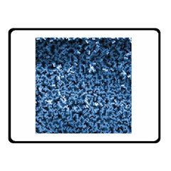 Blue Cubes Double Sided Fleece Blanket (Small)