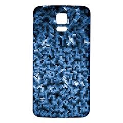 Blue Cubes Samsung Galaxy S5 Back Case (White)