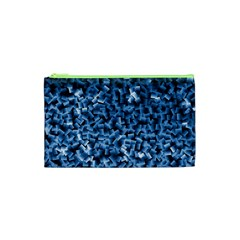 Blue Cubes Cosmetic Bag (xs)