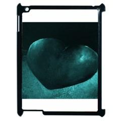 Teal Heart Apple Ipad 2 Case (black)