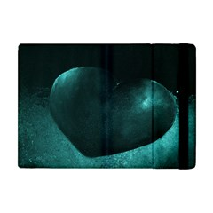 Teal Heart Apple Ipad Mini Flip Case