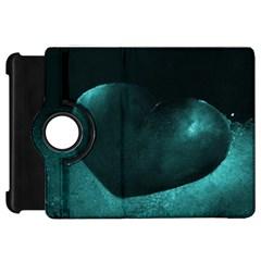 Teal Heart Kindle Fire Hd Flip 360 Case