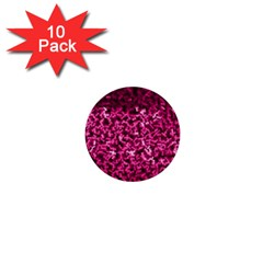 Pink Cubes 1  Mini Buttons (10 Pack)