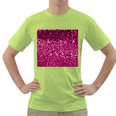 Pink Cubes Green T Shirt